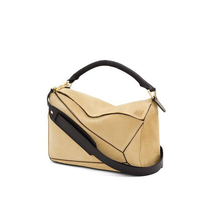 LOEWE Puzzle Bag Gold front