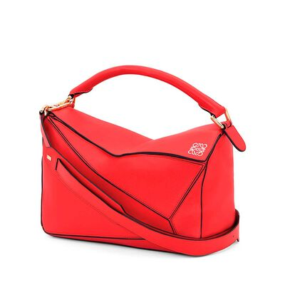 LOEWE Puzzle Bag Primary Red front
