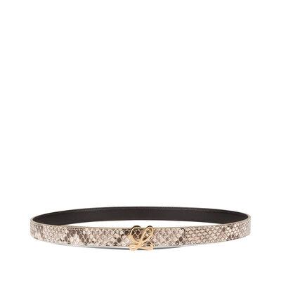 LOEWE L Belt 2Cm Natural/Gold front