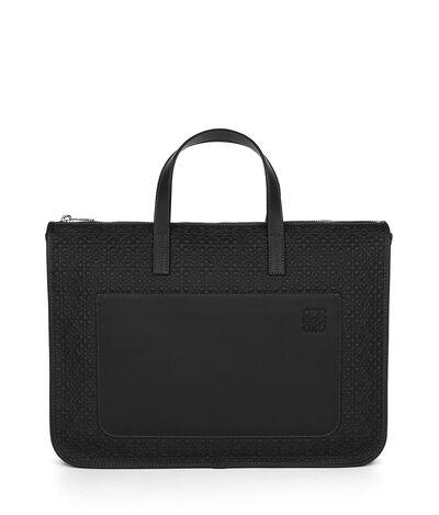 LOEWE Briefcase With Pocket Black front