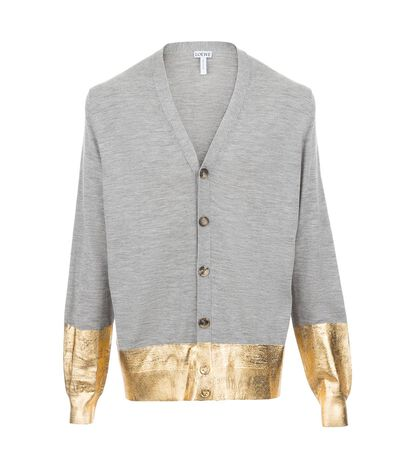 Cardigan With Gold