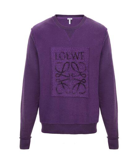 LOEWE Anagram Sweatshirt Purple all