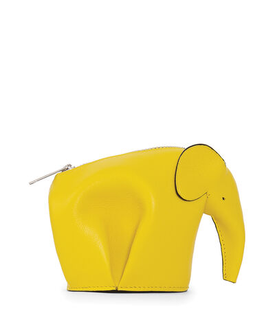 LOEWE Elephant Coin Purse Yellow front