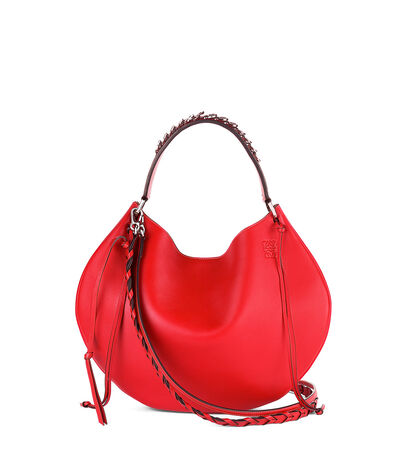 LOEWE Fortune Hobo Bag Primary Red front
