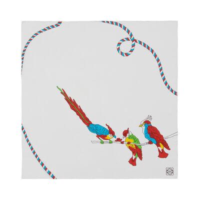 LOEWE 90X90 Paula Parrots White/Multicolor front