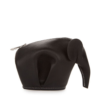 LOEWE Elephant Coin Purse Black/White front