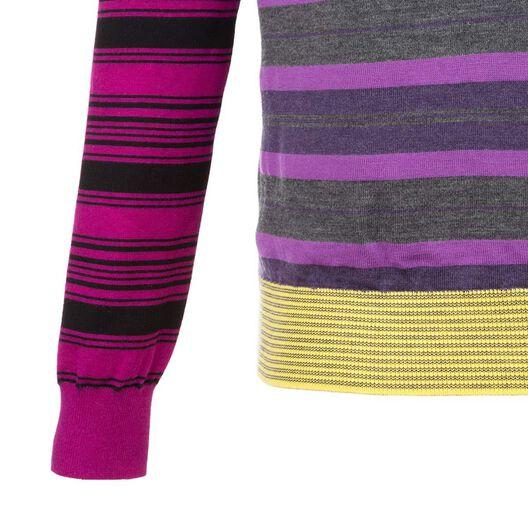 LOEWE Crewneck Patchwork Stripes Purple Melange all