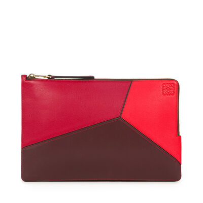 LOEWE Puzzle Flat Pouch Red Multitone front