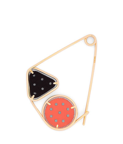 LOEWE Meccano Double Pin Orange/Black/Gold front