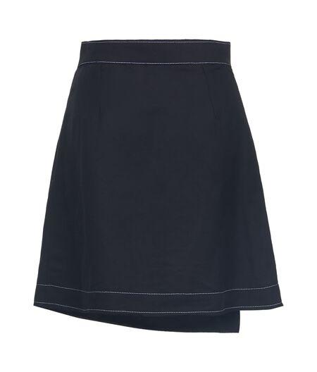 LOEWE Gold Button Mini Skirt Black all
