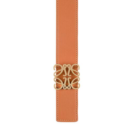LOEWE Cinturon Anagrama 3.2Cm Bronceado/Negro/Oro all