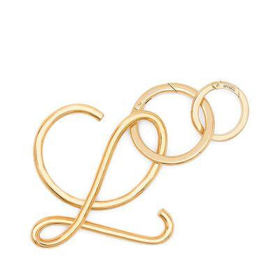 LOEWE L Keyring Gold front