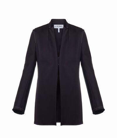 LOEWE Satin Jacket Black front