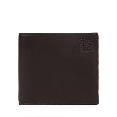 LOEWE Bifold Wallet Black/Kakhi Green front