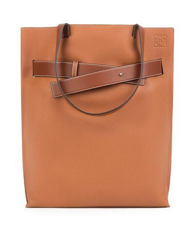 LOEWE Vertical Belt Tote Bag Tan front