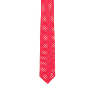 LOEWE 7Cm Jacquard Dots Tie Red front