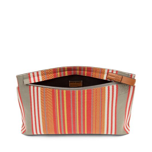 LOEWE T Pouch Stripes Print Red all