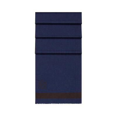 LOEWE 45X200 Stripes Scarf brown/navy blue front