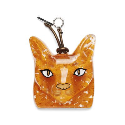 LOEWE Cat Face Charm Orange front