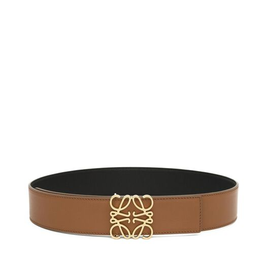 LOEWE Anagram Belt 4Cm Tan/Black/Gold all