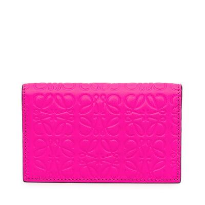 LOEWE Business Card Holder Shocking Pink front