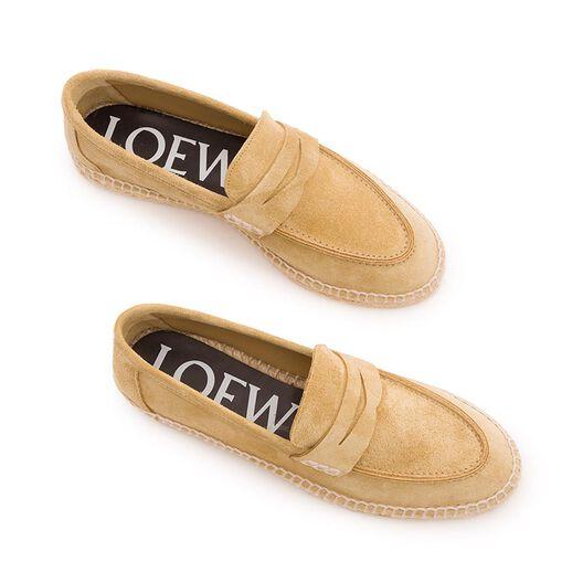 LOEWE Loafer Espadrille Gold all