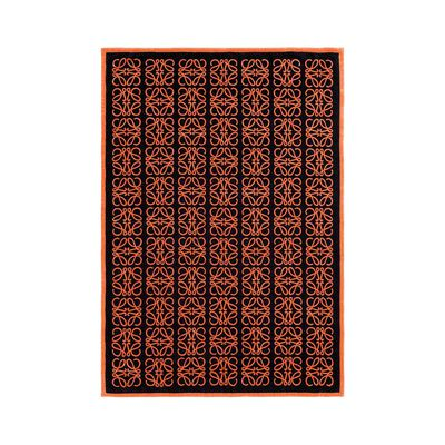 LOEWE Big Monograms Jacquard Towel Navy/Orange front