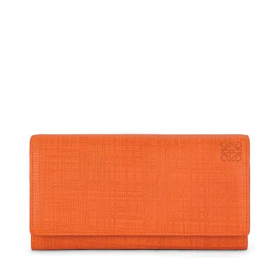 LOEWE Continental Wallet Orange front