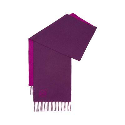 LOEWE 30X180 Anagram Scarf Magenta/Purple front