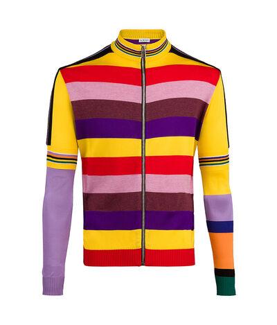 LOEWE Zip Cardigan Rainbow Multicolour front
