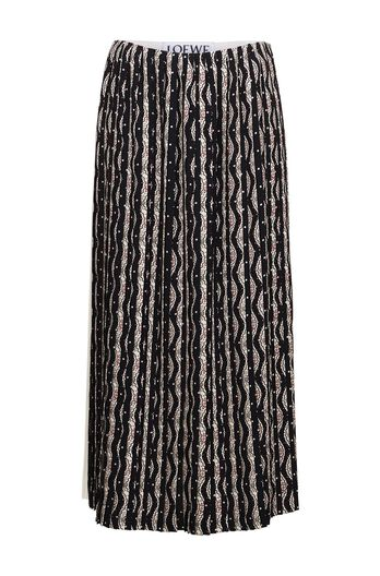 Bicolour Pleated Skirt