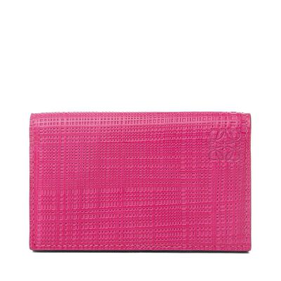 LOEWE Business Card Holder Fuchsia front