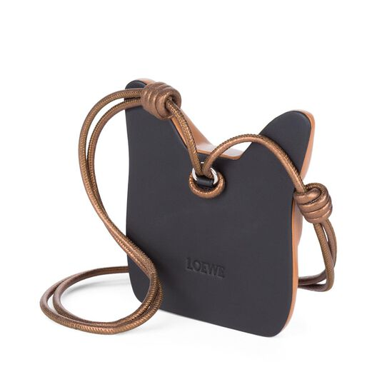 LOEWE Cat Face Necklace Tan all