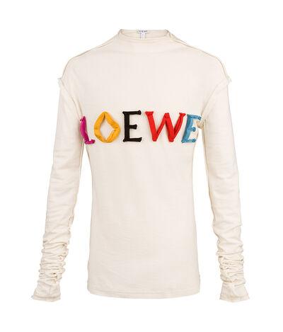 LOEWE T-Shirt Loewe Colors Long Slv Calico front