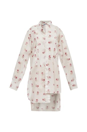 LOEWE Printed Asymetric Shirt White/Red all