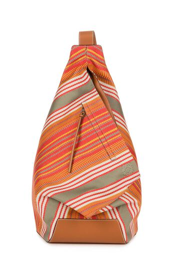 Anton Stripes Print Backpack