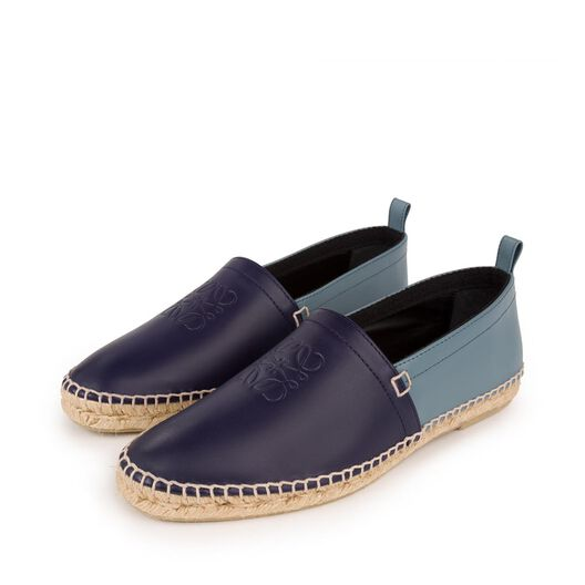 LOEWE Bicolor Espadrille Navy/Stone Blue all