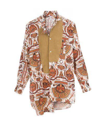 Camisa Asimetrica Inca Print
