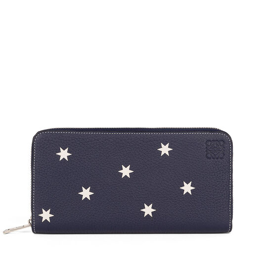 LOEWE Zip Around Wallet Stars Navy/White all