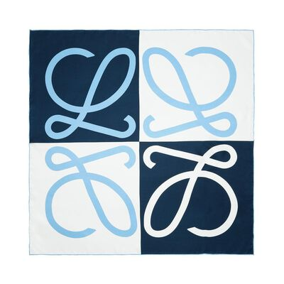 LOEWE 90X90 Giant Anagram Scarf Blue front
