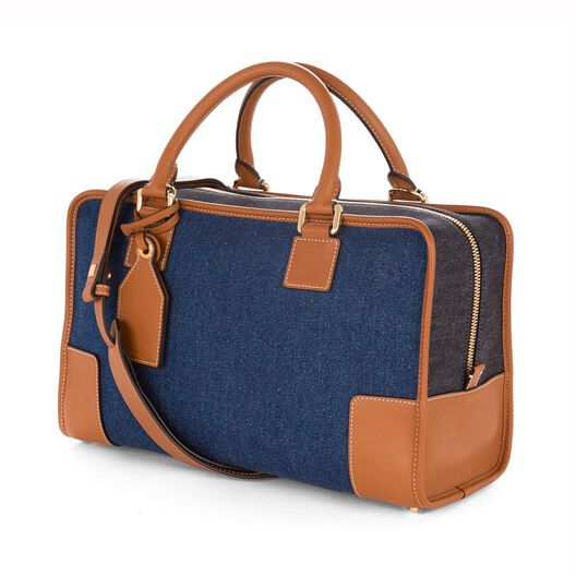 LOEWE Amazona Bag Multitone Denim/Tan all