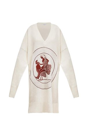Vneck Sweater Dress Greek