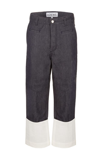 LOEWE Fisherman Jeans Navy Blue all