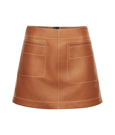 LOEWE Mini Skirt Tan front