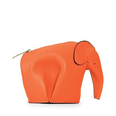 LOEWE Elephant Coin Purse Orange front