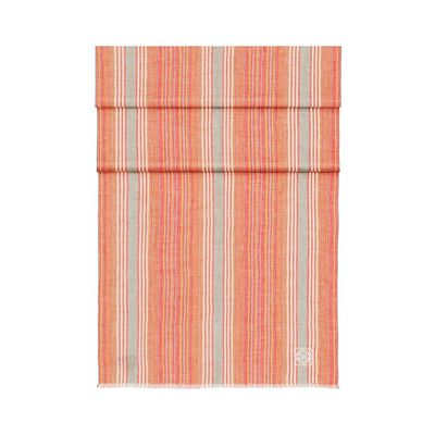 LOEWE 70X200 Stripes Scarf Red front