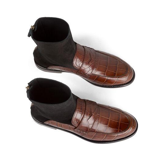 LOEWE Sock Boot Loafer Brown/Black all