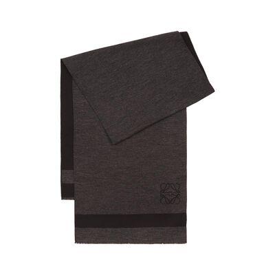 LOEWE 45X200 Stripes Scarf Grey/Black front