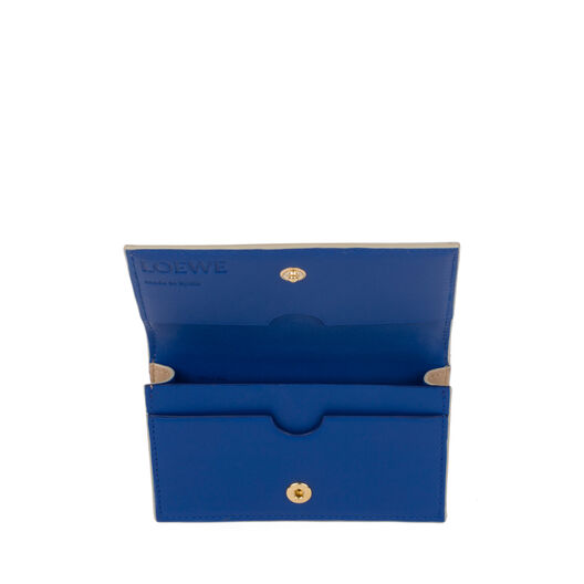 LOEWE Business Card Holder Sand/Electric Blue all