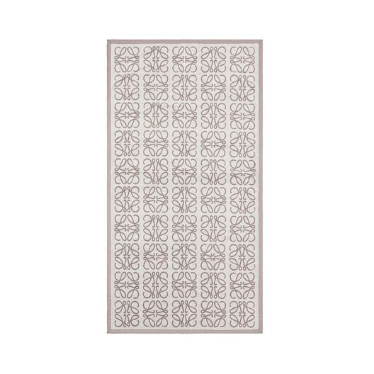 LOEWE Small Monograms Jacquard Towel Light Beige/Ivory all